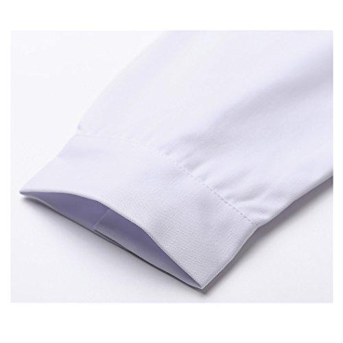 Lange abschnitt langärmelige weiß arbeit kittel ärzte krankenschwestern bekleidung arbeitskleidung (damen, S) - 6