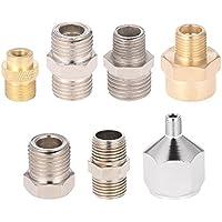 Gocheer 7pcs Airbrush Schlauch Adapter Kit Fitting Stecker Set für Kompressor & Airbrush Schlauch