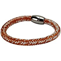 Segeltau Armband Serie 8 by dünenkinder in orange/weiß