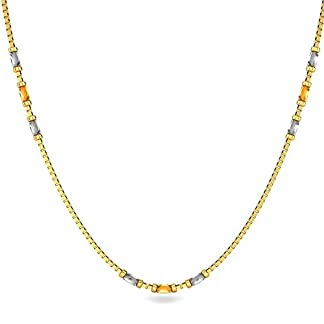 Candere By Kalyan Jewellers Contemporary Collection 22k Yellow Gold Gianna Chain Necklace for Women