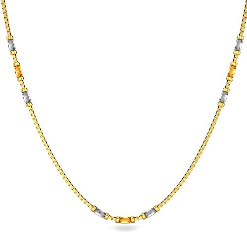 Candere By Kalyan Jewellers Contemporary Collection 22k Yellow Gold Gianna Chain Necklace