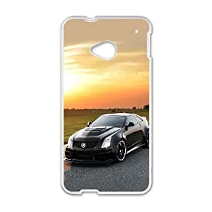 Cadillac HTC One M7 Cell Phone Case White