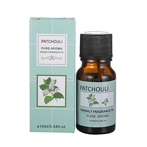 Aromatherapie Öle,About1988 100% Pure Aroma Öle, Aromatherapie Duftöl für Diffuser/Duftlampen/Lufterfrischer Geeignet (Sleep, Immunity, Relaxation, Decompression, Breathe) 10ml (Patchouli B) -