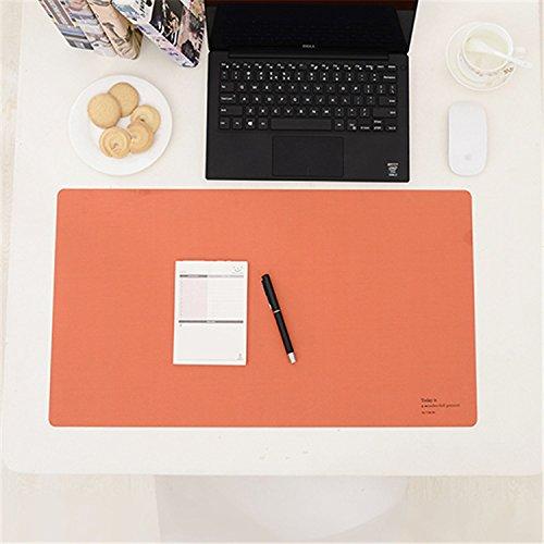 medipdy Schreibunterlage Laotop Schlüssel Board Maus Pad Tisch Organizer für Computer, PC und Laptop, dunkelorange, 610mmx343mm