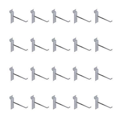 Set mit 20 Sichtschutzhüllen aus transparentem Kunststoff, 7,5 cm Haken, für Schilder mit BLISTER oder BLISTERATI