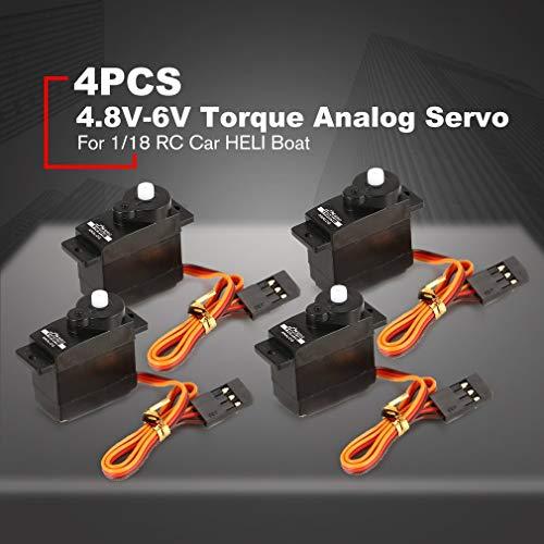 JX PS-1109HB Kunststoff-Getriebe 4,8 V-6 V 1,89 kg großes Drehmoment Analog Servo für 1/18 RC Auto Heli Boot Ersatzteile Zubehör schwarz