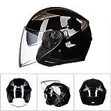 Adulto Dual Lens casco del motociclo fuori strada anti nebbia aperto faccia moto Caschi Casco elettrico bicicletta motocross racing tappi di sicurezza
