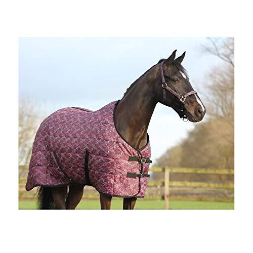 netproshop Pferde Stalldecke 210D mit Schweiflatz 150 g Auswahl, Groesse:155, Farbe:Paisley