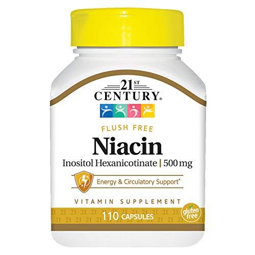 21st Century Health Care, Niacin Inositolhexanicotinat, 500 mg, 110 Kapseln -