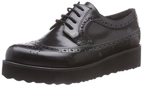 Marc Shoes Romy Damen Brogue Schnürhalbschuhe Schwarz (black 100)