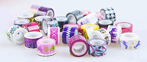 Oytra Washi Tape Set ( Quantity - 50   Colorful rolls of printed scrapbook material ) DIY   Art and Craft supplies   Decorative items   Birthday return gift for girls, kids, children & students