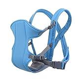 iManson 3 in 1 Babytrage Babytragetuch hält Babys Artefakt,Baby und Kindertrage/Bauch-,Rücken-und Hüfttrage,4 Tragpositionen (3-15KG,3-16 Monate) Blau