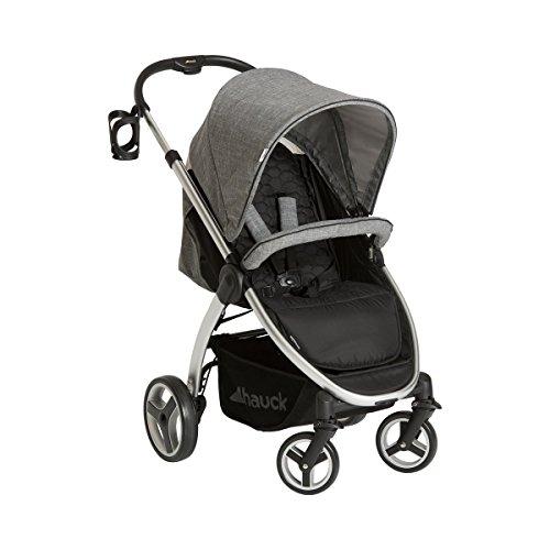 Hauck 4007923148068 Lift Up 4 -Sportwagen, Baby Buggy mit Liegefunktion, höhenverstellbar und Getränkehalter mit einer Hand klein zusammenklappbar, grau
