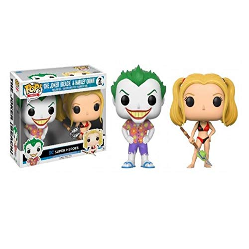 Pack 2 Figuras Pop DC Comics Beach Joker & Harley Exclusive