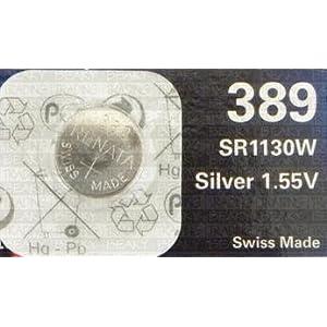 1 X Renata 389 sr1130w Batterie / Uhrenbatterie, Silberoxid, 1,55 v, Blisterpackung)