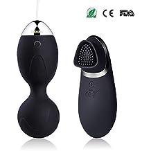 Vibrador Bolas Suelo Pelvico Huevo Vibrante de Control Remoto con Inalambrico 10 Modos Vibraciones ,Bola que Contrae la Vagina100% Impermeable ,Recargable USB,Kegel Bolas de la Salud para Mujer
