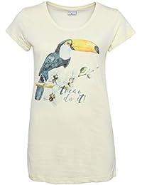 Stitch & Soul Damen T-Shirt mit Tucan-Print | Leichtes Sommer Shirt mit Aufdruck aus hochwertigen Jersey Material