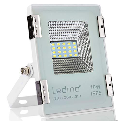 LEDMO Focos led Proyector 10W,focos led exterior blanco 6000K SMD2835 1000LM Super...