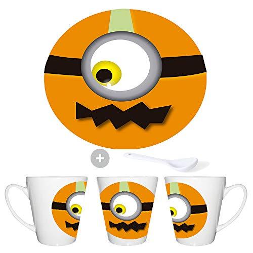 MERCHANDMANIA KONISCHE Becher Pumpkin Emoticon Halloween Tea Hour