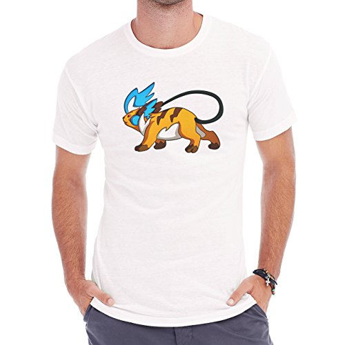 Pokemon Raichu Electric Pikachu Blue Tail Herren T-Shirt Weiß