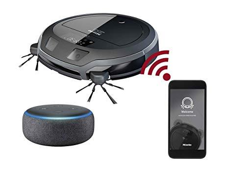 Miele Scout RX2 Home Vision Saugroboter (für jeden Boden, Staubsauger Roboter mit App-Steuerung, bis 2h-Akkulaufzeit, Roboterstaubsauger inkl. Smart Navigation) schwarz grau Schwarz Navigation