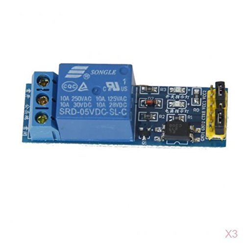 3 Stück 1-Kanal 5V Relais Modul Optokoppler Hohem Niveau Auslöser (Terminal Starten)