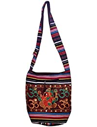Gaurapakhi Rajasthani Collection And Ethnic Cotton Handmade Handbag With Multicolor For Women's - B07D7GX1QM
