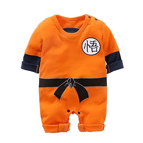 Neugeborene Wukong Overalls Baby Schöne Langarm Cartoon Spielanzug Baby Kleidung (Baby Goku Kostüm)