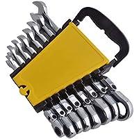 Juego de Llaves Combinadas 8 - 17 mm con Flexible Cabeza, 8 Piezas