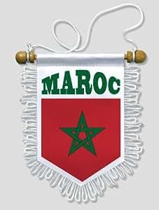 KOO Interactive - Fanion Voiture Maroc - 13 x 15 cm - Blason Ecusson Football