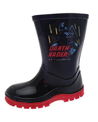 Disney Kids, Star Wars Darth Vaderr Gummistiefel Stiefel für Jungen, Größe UK 7–1, Schwarz - Darth Vader - Black/Red - Bagged - Größe: 24 EU Kinder (Darth Stiefel Vader)