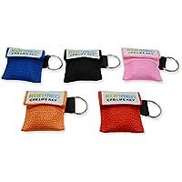 konmed 20PCS/Pack 5Farben CPR Face Schilde Schlüsselanhänger CPR Face Maske mit Schlüsselanhänger Schlüsselanhänger... preisvergleich bei billige-tabletten.eu