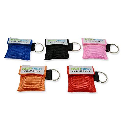 Konmed, 20Stück/Pack, CPR Face Shields CPR Maske mit Schlüsselanhänger Schlüsselanhänger (Shield Maske)