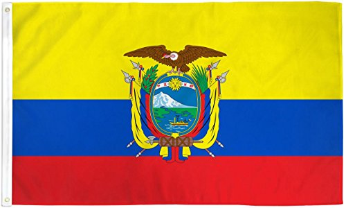 Home and Holiday Flags 3x5 Ecuador Flag Country Banner South American Pennant Bandera Indoor Outdoor -