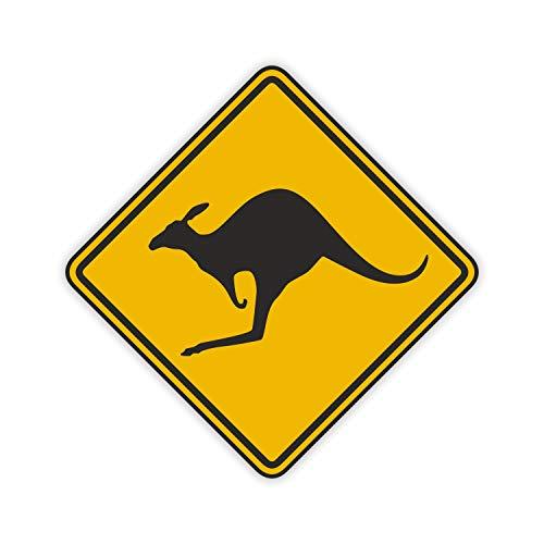 easydruck24de 1 Sticker Vorsicht Känguru I kfz_052 I 10 x 10 cm I Kangaroo Australien Australia Outback car Decal I Auto-Aufkleber Motorrad Roller Laptop wetterfest -