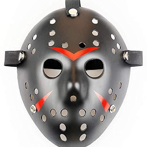 Kostüm Freitag Schwarzen - LIUYUNE,Halloween Maskerade Maske Jason gegen Freitag das 13. Cosplay Kostüm(Color:SCHWARZ)