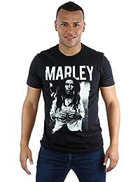 Bob Marley Men's Black and White Photograph T-Shirt