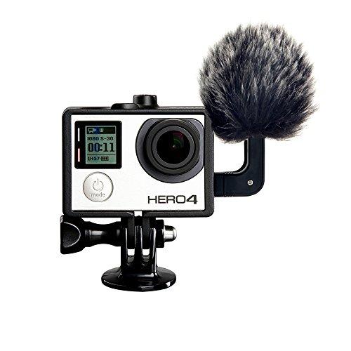 Outdoor-kondensator (Stereo Mikrofon mit Pelz Outdoor Mikrofon Windschutzscheibe, USB Kondensator Mic Kondensatormikrofon für GoPro HERO3, HERO3+, HERO4 Action Kameras)
