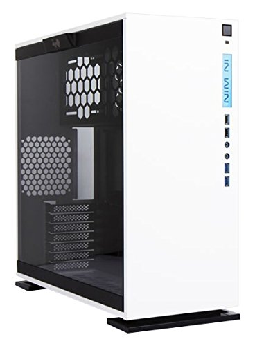 In Win 303 Midi-Tower - Caja de ordenador (Midi-Tower, PC, SECC, Vidrio templado, ATX, Micro-ATX, Mini-ATX, Color blanco)