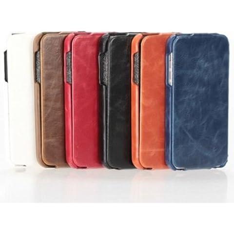 Nuevo para arriba y abajo de la PU Leather Case carpeta de la bolsa para el iPhone 5.