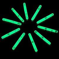 MODEOR U3, 50 Pcs 1.5 Inches Green Mini Glow Sticks, Glow Sticks Wholesale, Fishing Float, Light up Glow Toys, Glow Mini Stick, Glow Sticks Party Pack for St. Patrick