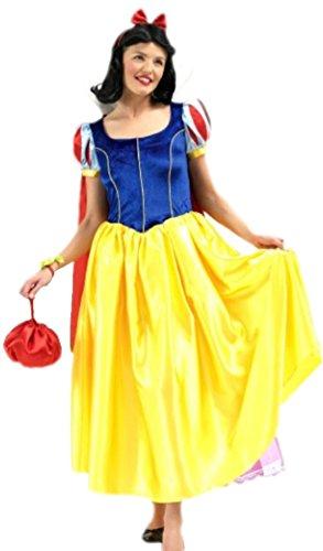 Karnevalsbud - Damen Schneewittchen Märchen Kostüm mit Perücke, -
