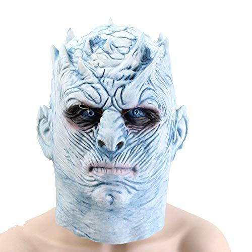 MIANJU@ Halloween Maske Nacht König Maske EIS Und Feuer Song Night's King Latex Material Halloween-Maske (Für Erwachsenen Eis König Kostüm)