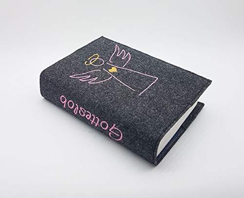 Gotteslob-/Gebetsbuch Hülle aus Wollfilz handmade in Deutschland, passend für Ausgaben ab 2013♥Engel rosa♥