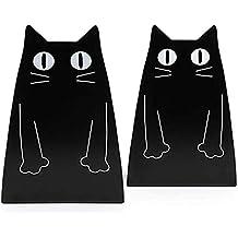 Ankamal Elec- 1 par de organizadores de libros de metal para gatos, para escritorio