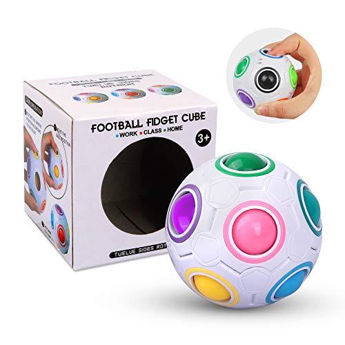 Magic Ball Spielzeug - Magic Rainbow Ball Puzzle Spielzeug - Regenbogen 3D Puzzle Zauberball - tolles Mitgebsel für Kindergeburtstag Gastgeschenk Spielzeug - Geschicklichkeitsspiel für Erwachsene