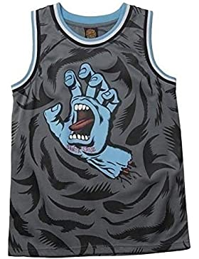 Santa Cruz Camiseta Tirantes (Tank Top) Screaming Hand B/Ball carbón/Negro/Azul Talla: 140 a 152 cm Altura – de...