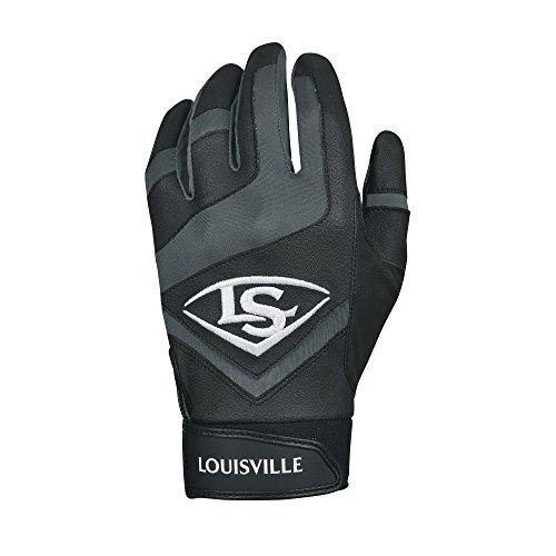 Louisville Slugger echtem Jugend Batting Handschuhe–Youth groß, schwarz