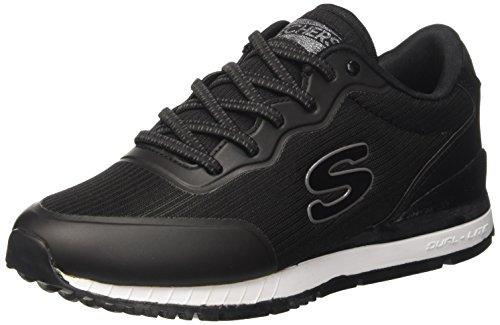 Skechers sunlite-vega, sneaker infilare donna, nero (black), 39 eu
