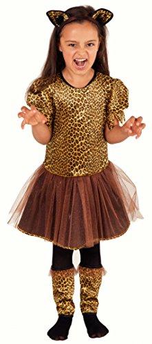 Deluxe Leopard Kostüm für Kinder Mädchen - Panther Kostüm Kinder Mädchen - Leoparden Kostüm Kinder (Zubehör Panther Kostüm)